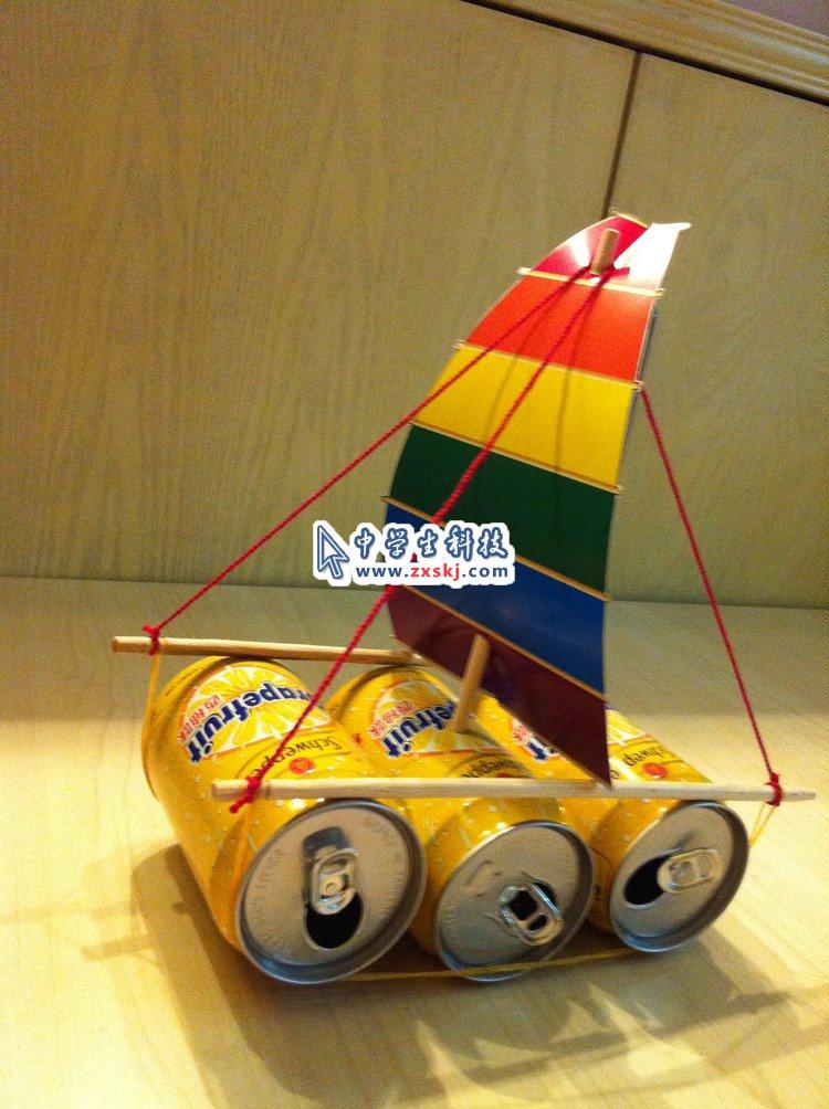 【废物利用】易拉罐帆船图片
