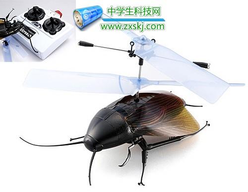 在别人的遥控飞机旁飞出这样一只遥控蟑螂